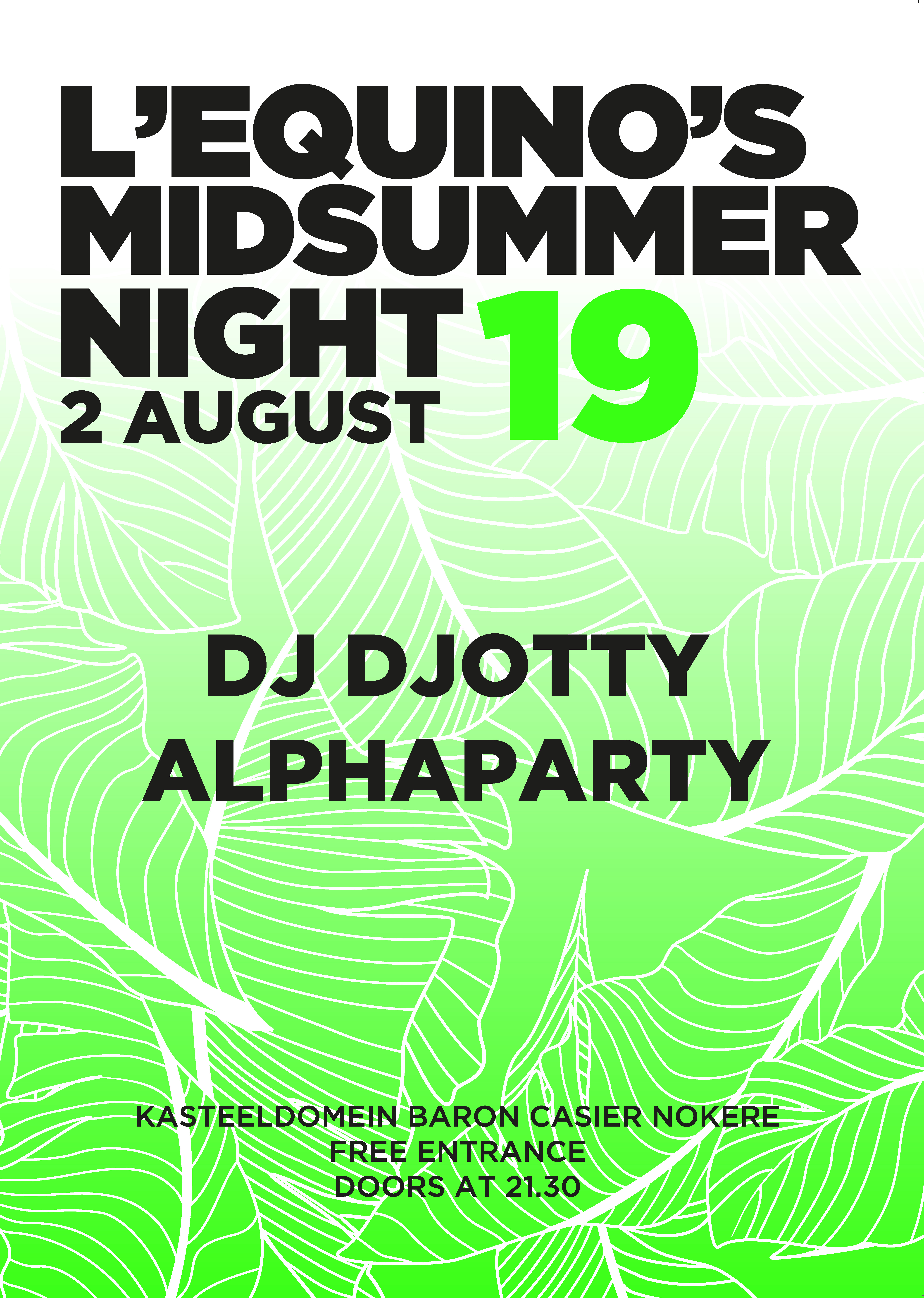 Affiche Mid SummerPary LEquino 2019